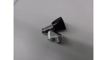 Wasmachine Beluchterkraan1/2 verchroomd zwarte knop